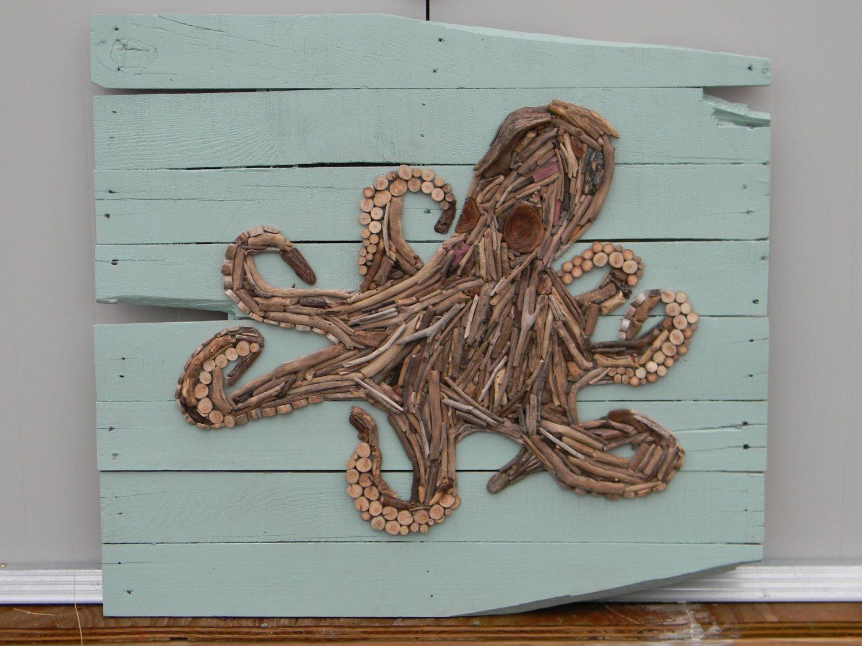 Octopus Papercraft Driftwood Octopus On Pallet Boards Diy Pinterest
