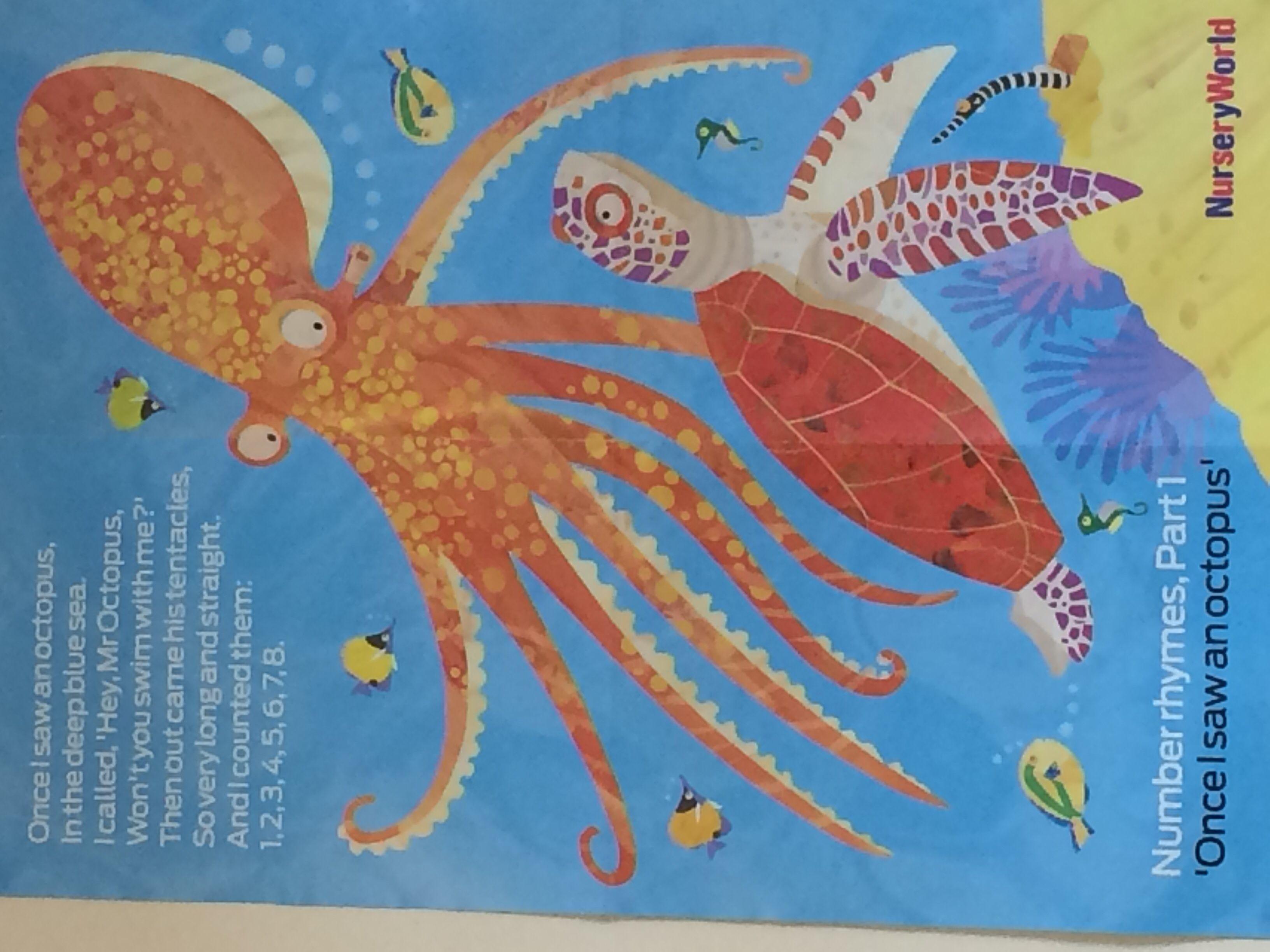 Octopus Papercraft Octopus Poem Ocean Pinterest
