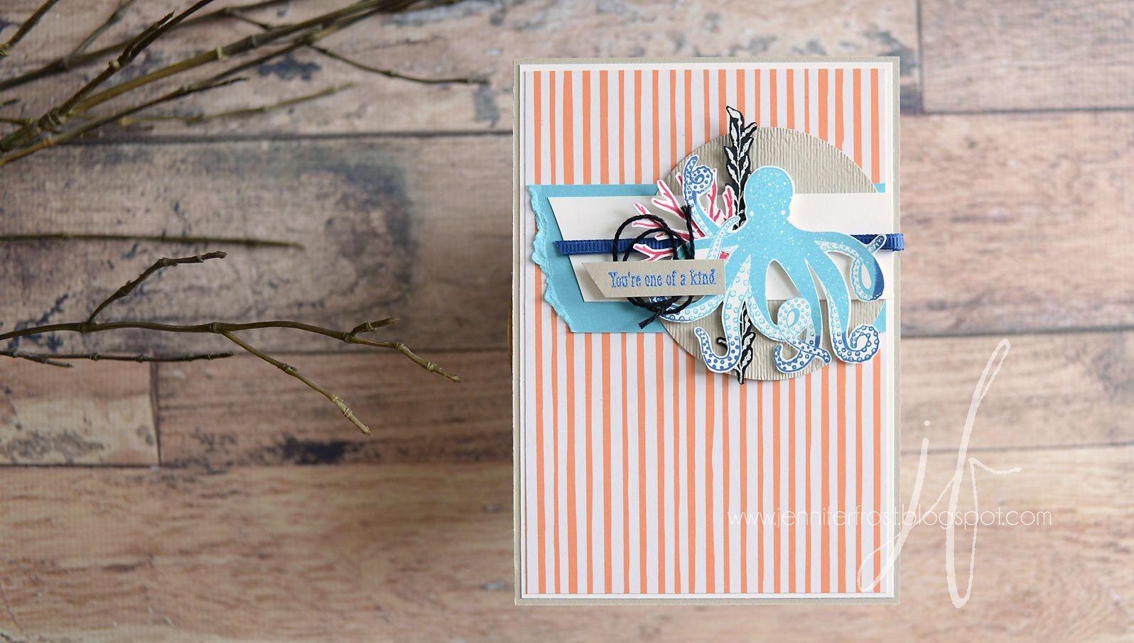 Octopus Papercraft Sea Of Textures Stampin Sneak Peek Blog Hop