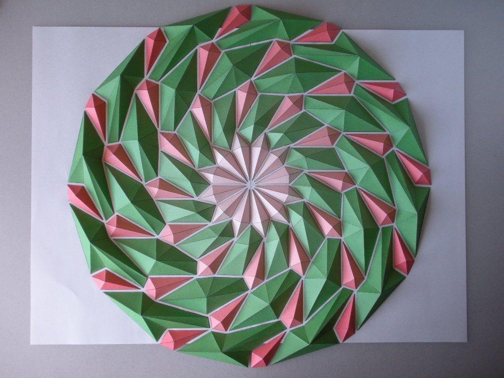 Okami Papercraft Spiral Mosaics origami Pinterest