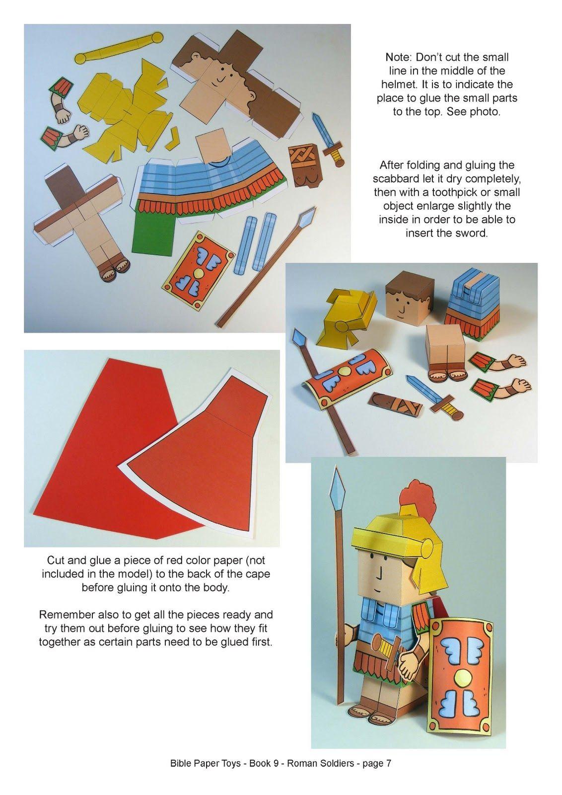 One Piece Papercraft Juguetes De Papel Los soldados Romanos