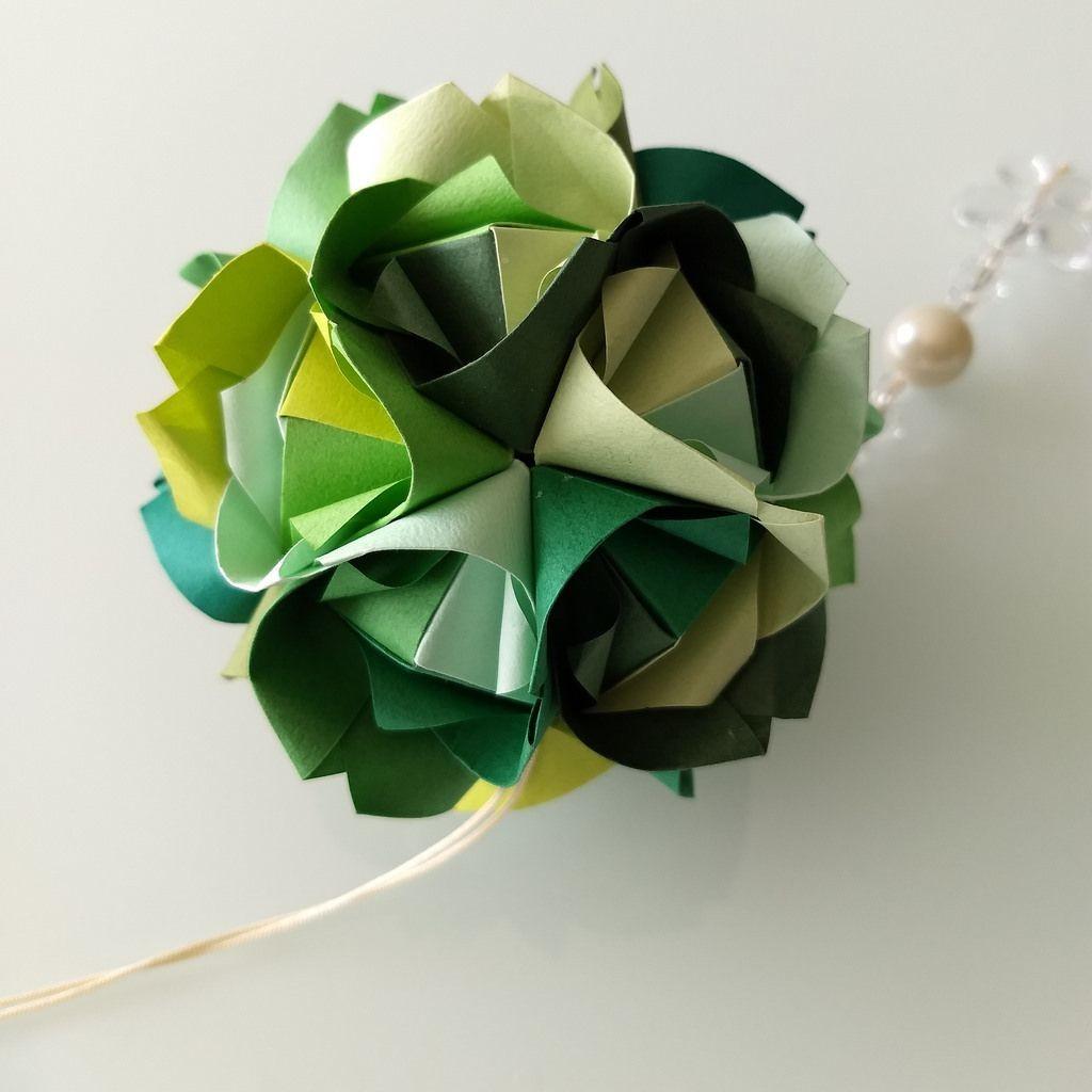 Origami Papercraft Imperial Rose sonobe Maria Sinayskaya Tant Paper by Carla Godoy