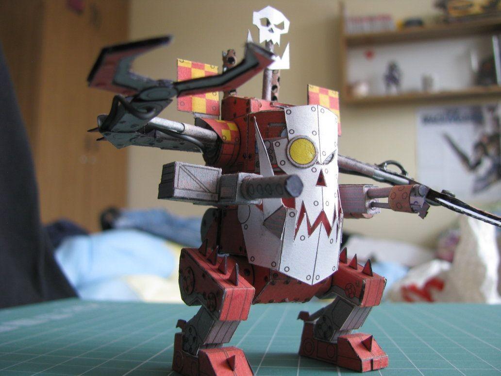 Papercraft 40k Deff Dread Warhammer 40k Papercraft by Kotlesiu