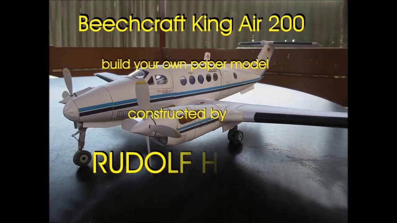 Papercraft Aircraft Beechcraft King Air 500 Free From Rudi Heger