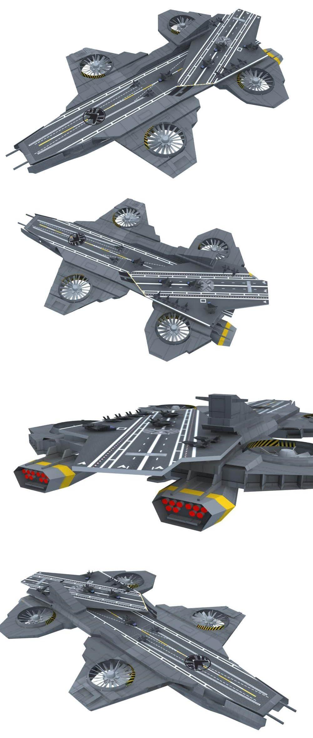 Papercraft Aircraft S H I E L D Helicarrier 1 800