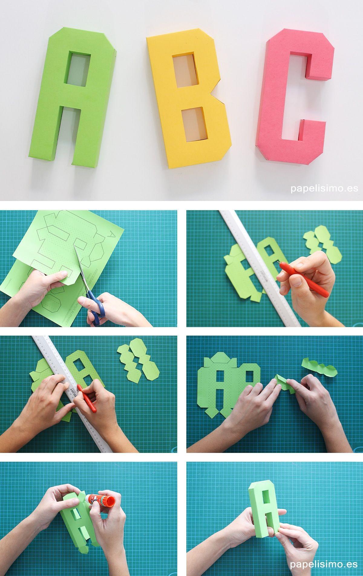 Papercraft Alphabet Abecedario Letras De Papel 3d Paper Alphabet Letters …