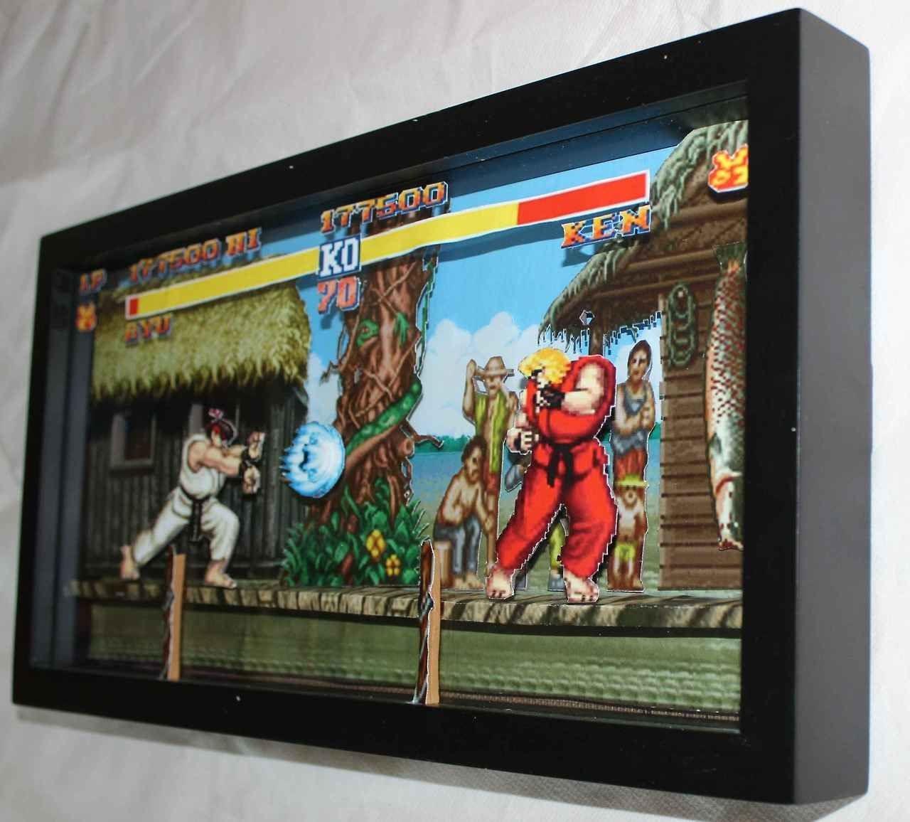 Papercraft Arcade Classic Nes Games In 3d Paper Dioramas
