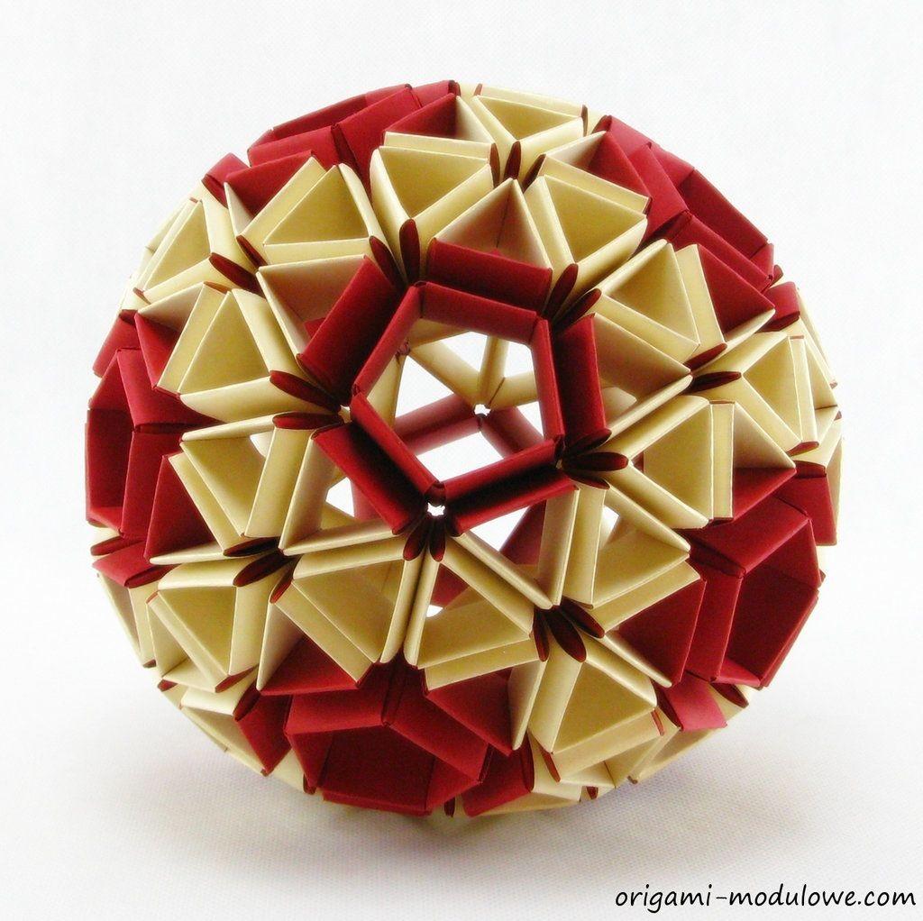 Papercraft Ball Modular origami Ball 1 by origamimoduloweviantart On