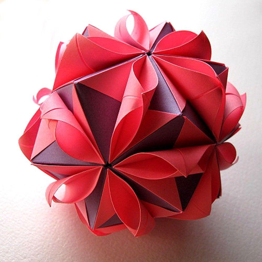 Papercraft Ball origami Flower Ball Paper Crafts Pinterest