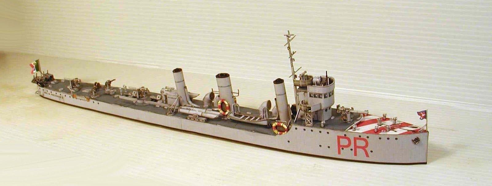 Papercraft Battleship Battleship Vittorio Emanuele Papercraft Italian