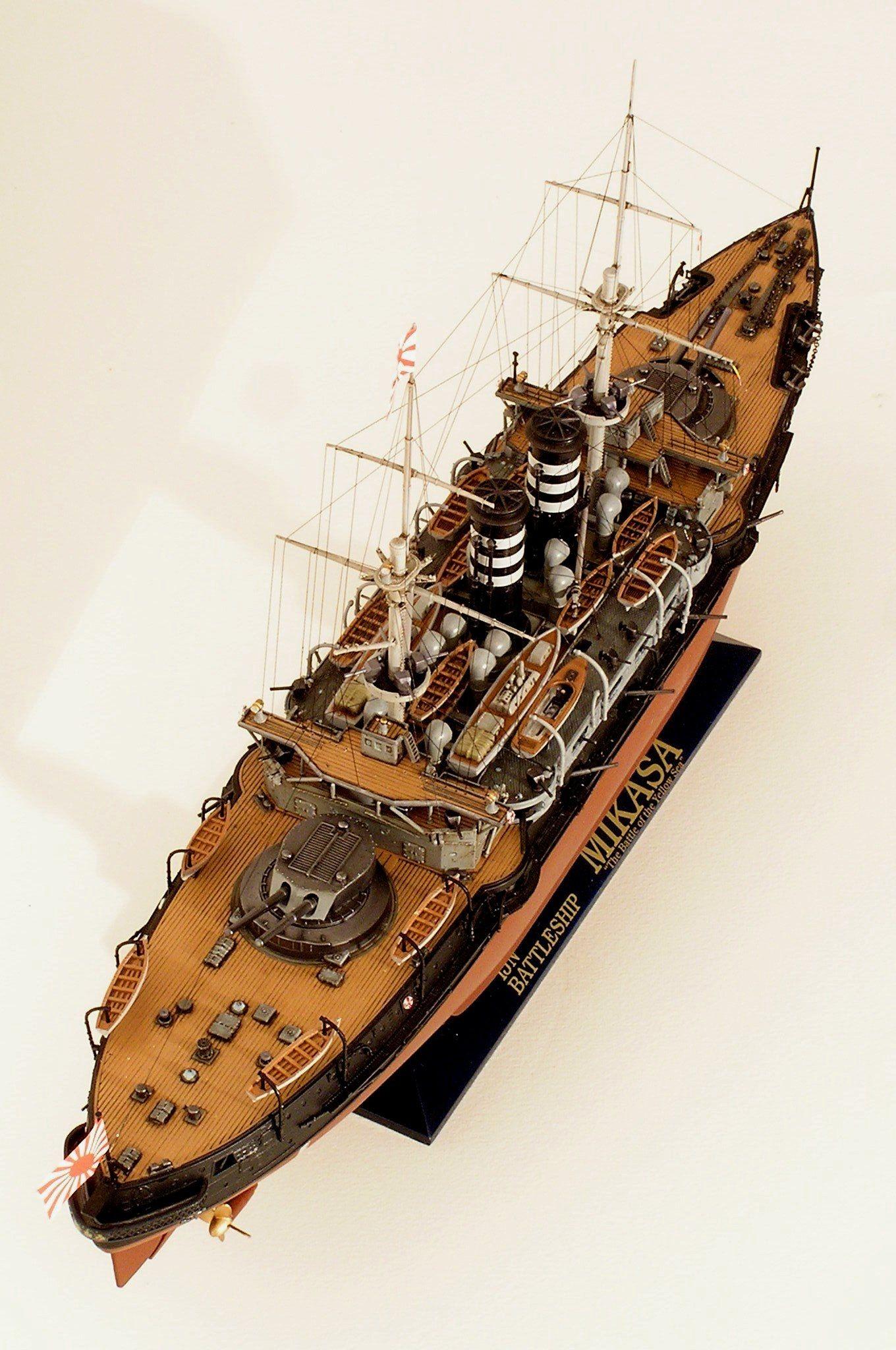 Papercraft Battleship Cuirassé Mikasa 1904 Hasegawa 1 350 Lodě Pinterest