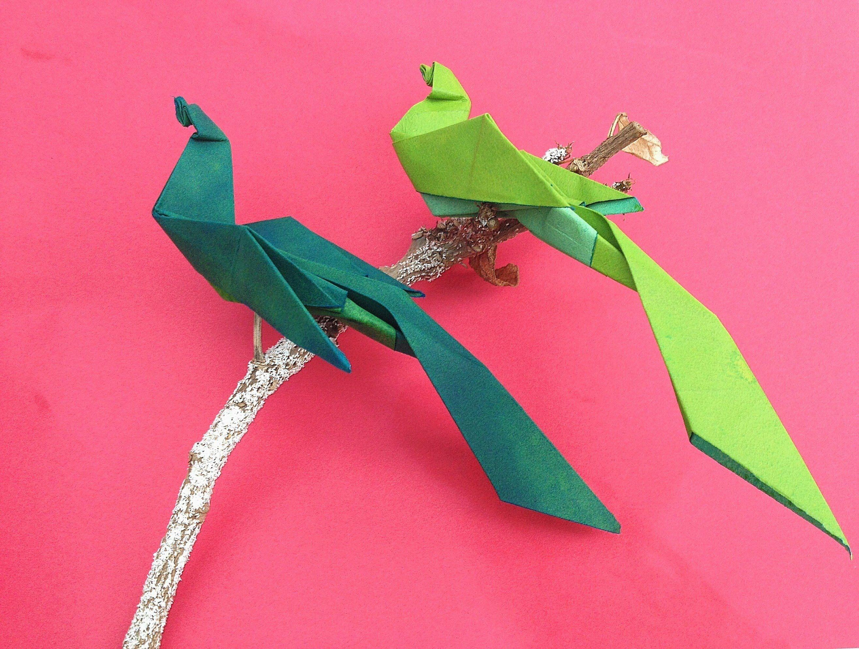 """Papercraft Bird Bird origami Paper """"bird Of Paradise"""""""