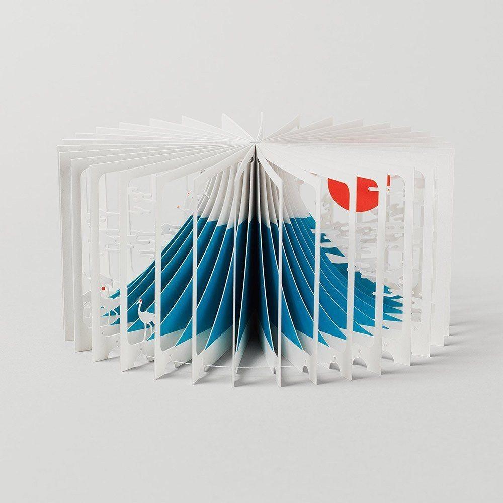 Papercraft Book 360° Book Mt Fuji Boekje Vormgeving Pinterest