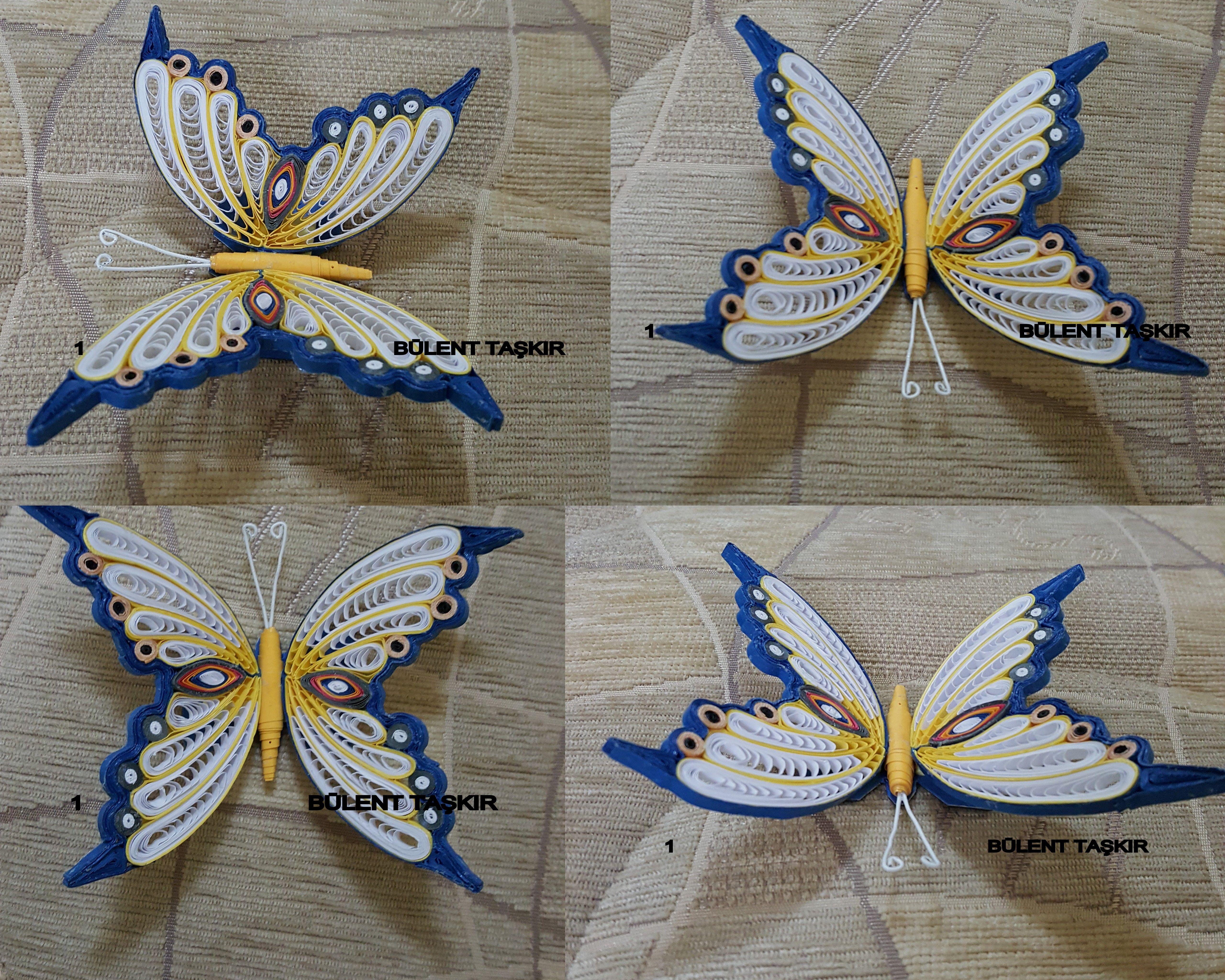 Papercraft butterfly butterfly Quilling Art Paper Pinterest