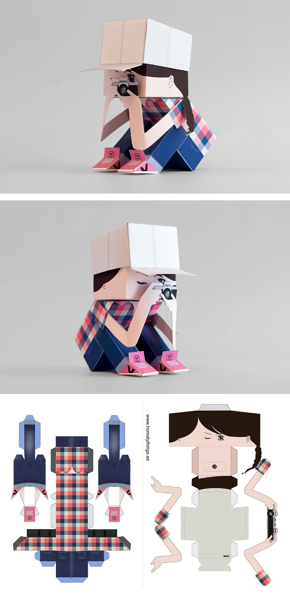 Papercraft Camera Papertoy Like Tanyapapertoy Papertoy