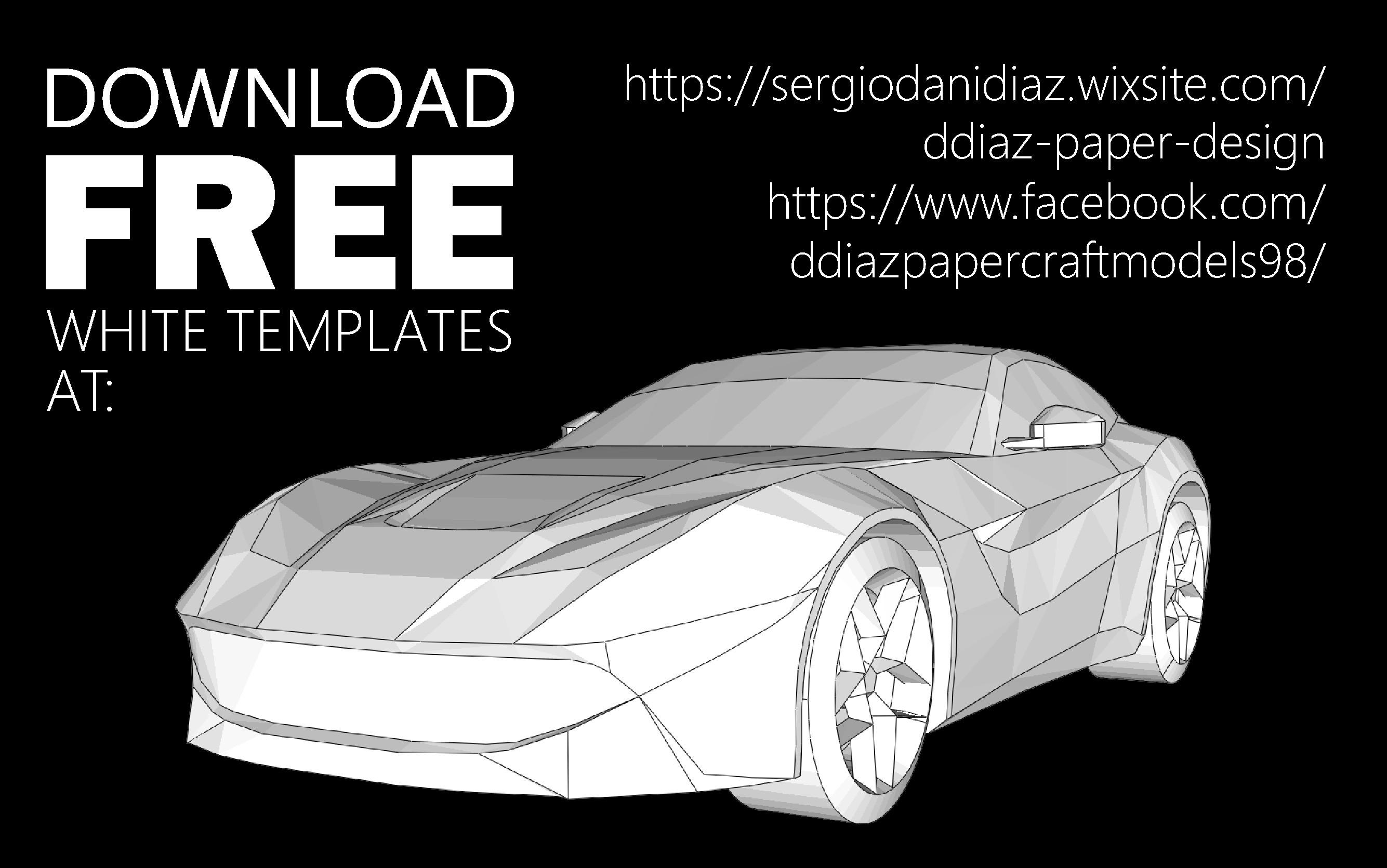Papercraft Car F12 Free Papercraft Pap Pinterest
