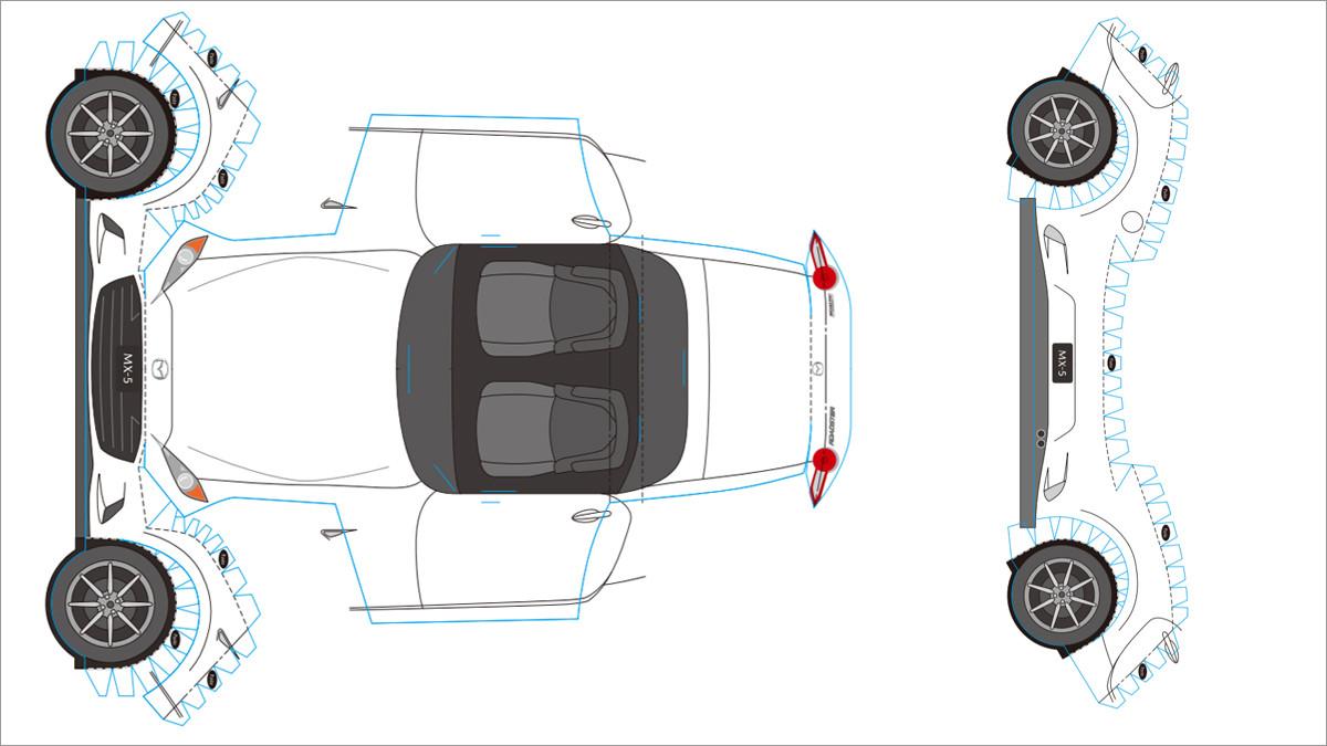 Papercraft Car Mazda Car Papercraft Printable