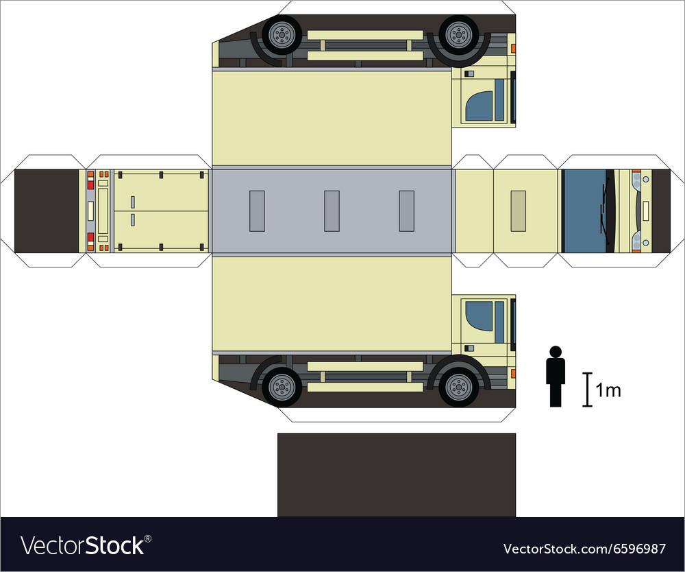 Papercraft Car Paper Model Of A Light Truck Car