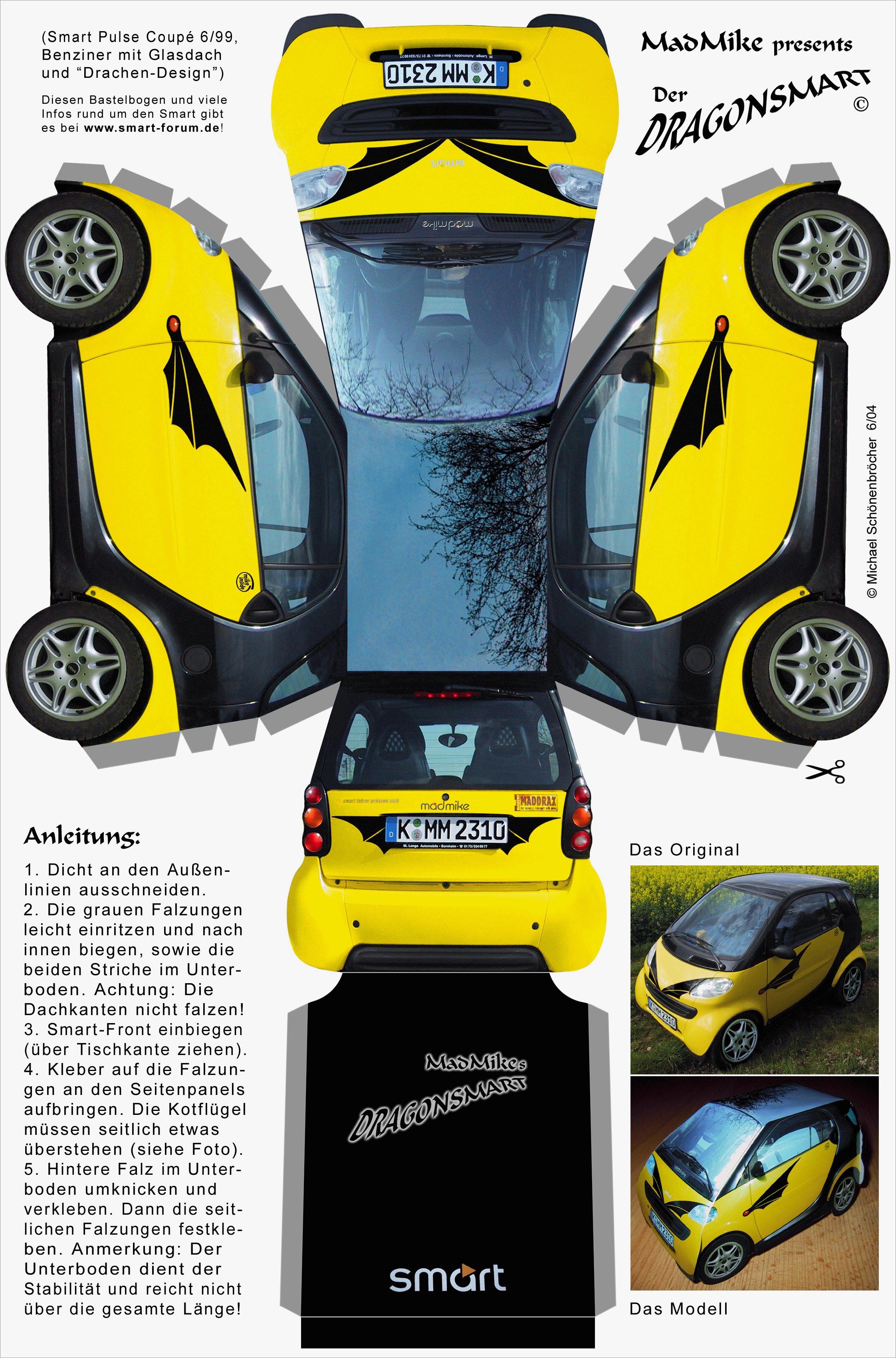 Papercraft Car Papercraft Car Smart Pulse