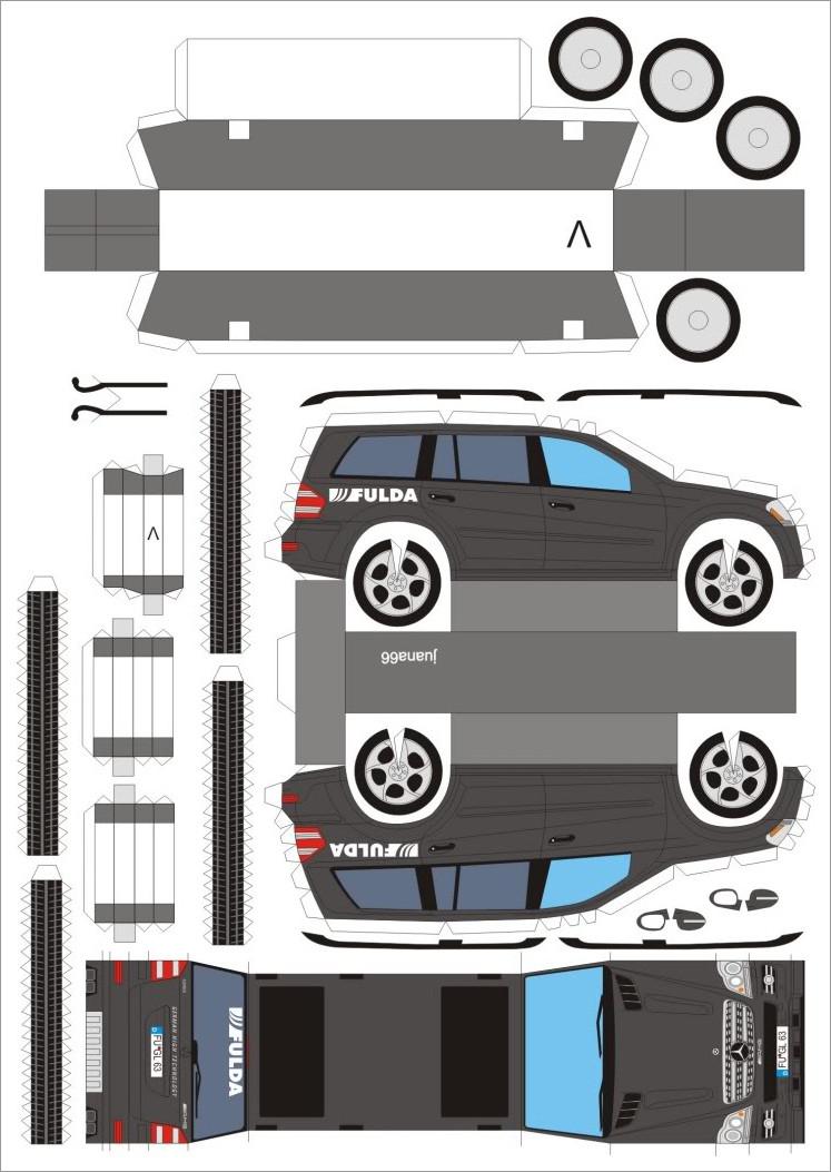 Papercraft Car Papercraft Car Template Mercedes Benz