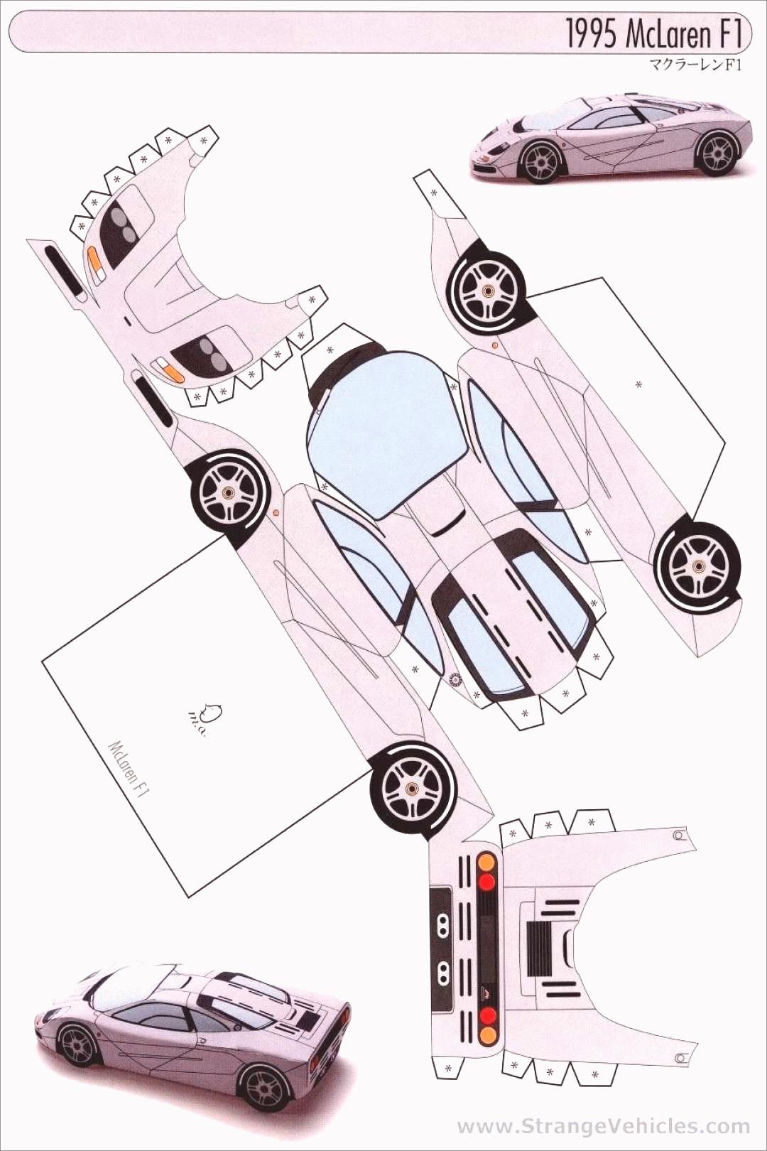 Papercraft Car Papercraft Car Template