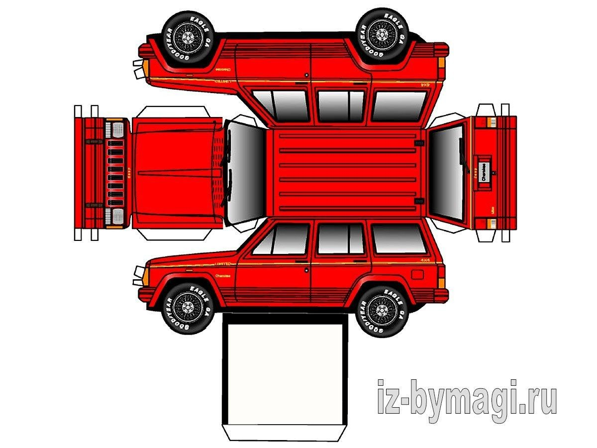 Papercraft Cars Jeep Iz Bumagi 5 1200—900 Creative Stuff 1