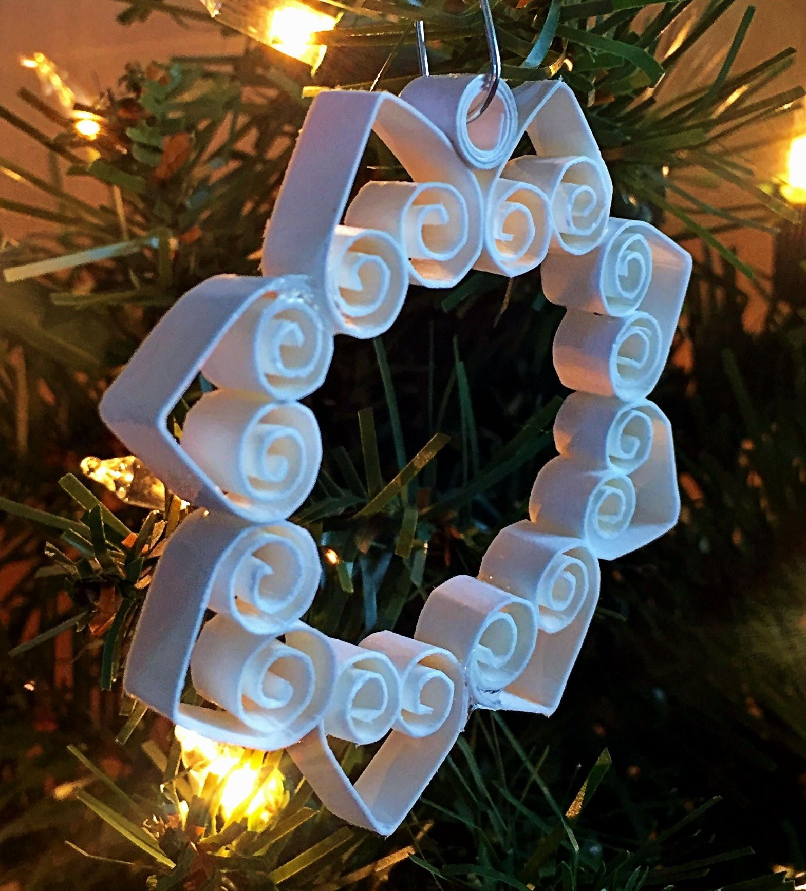 Papercraft Christmas ornaments ornament Decoration Snowflake Quilled Paper Quilling Christmas