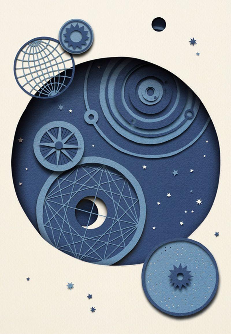 Papercraft Clock Owen Gildersleeve Stargazing Papercraft