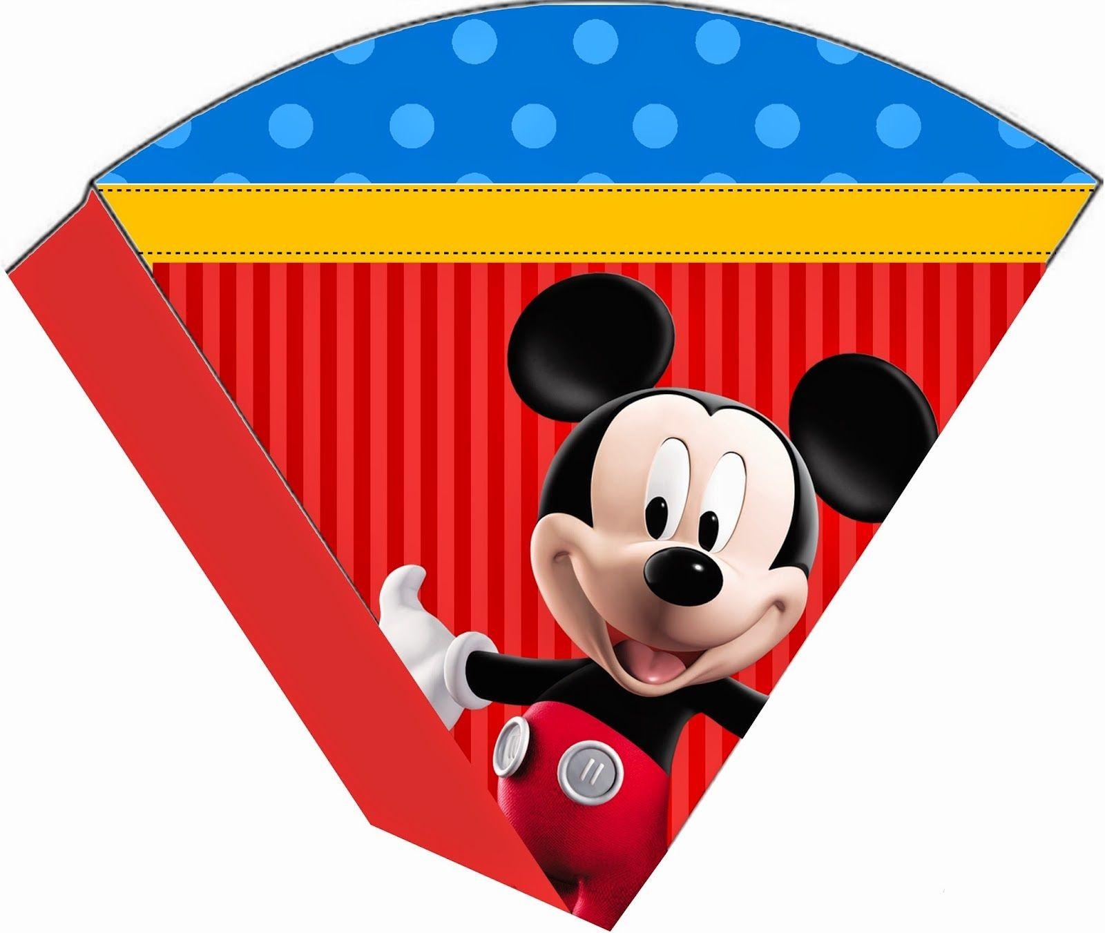 Papercraft Clubhouse Kit De Personalizados Tema Mickey Mouse Azul Vermelho E Amarelo