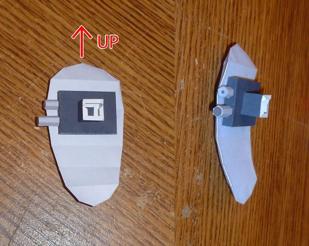 Papercraft Companion Cube Portal Turret Papercraft Führer Gunook
