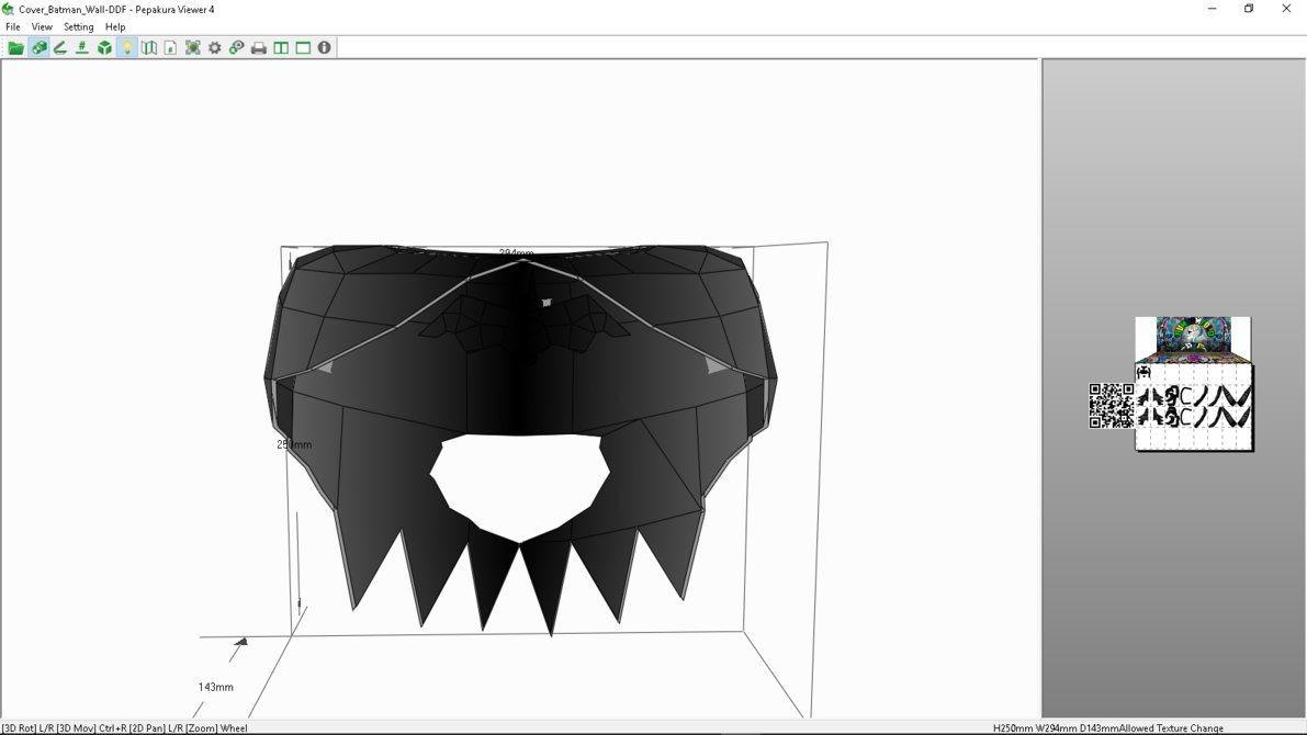 Papercraft Connection Cover Batman Wall Papercraft by Dumdumbot