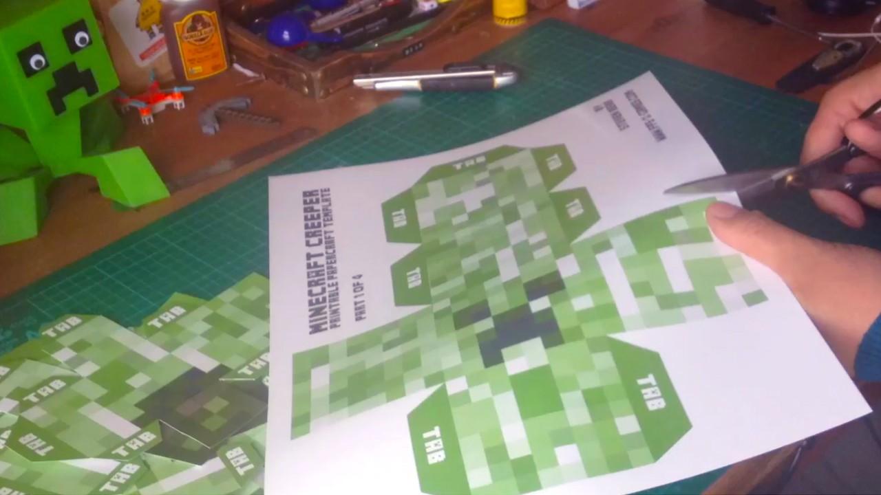 Papercraft Creeper Herstellung Einer Großen Kriechpflanze Mit Papercraft Gunook