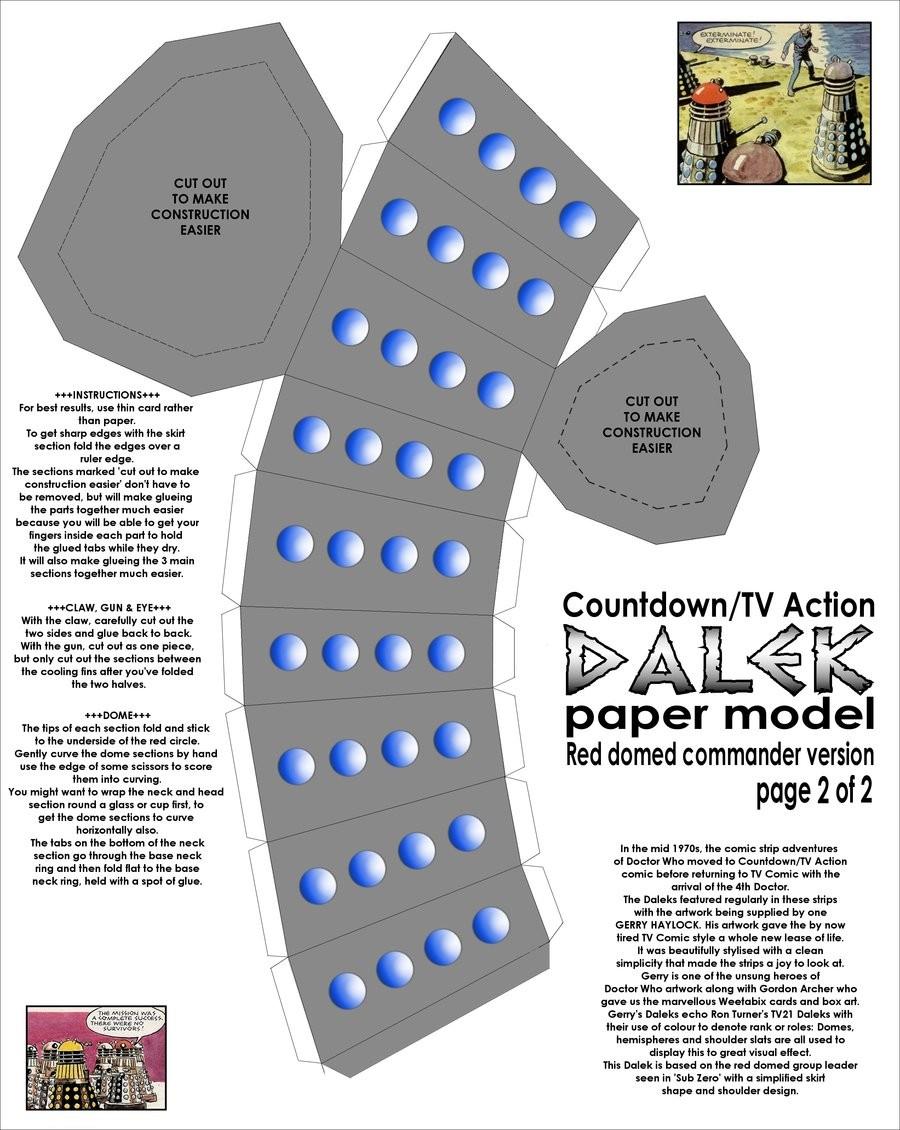 Papercraft Dalek Wie Ein Dalek Zu Bauen Gunook