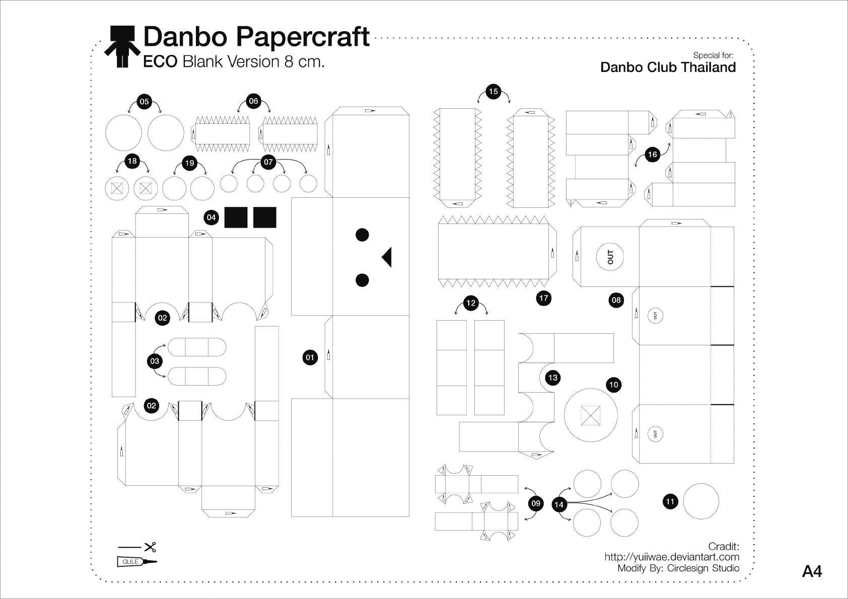 Papercraft Danbo Danbo Papercraft Template