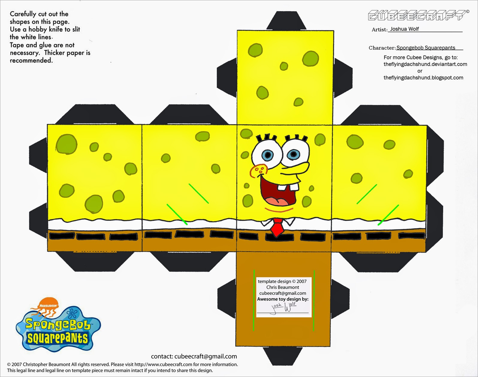 Papercraft Danbo Danbo Spongebob Squarepants Papercraft