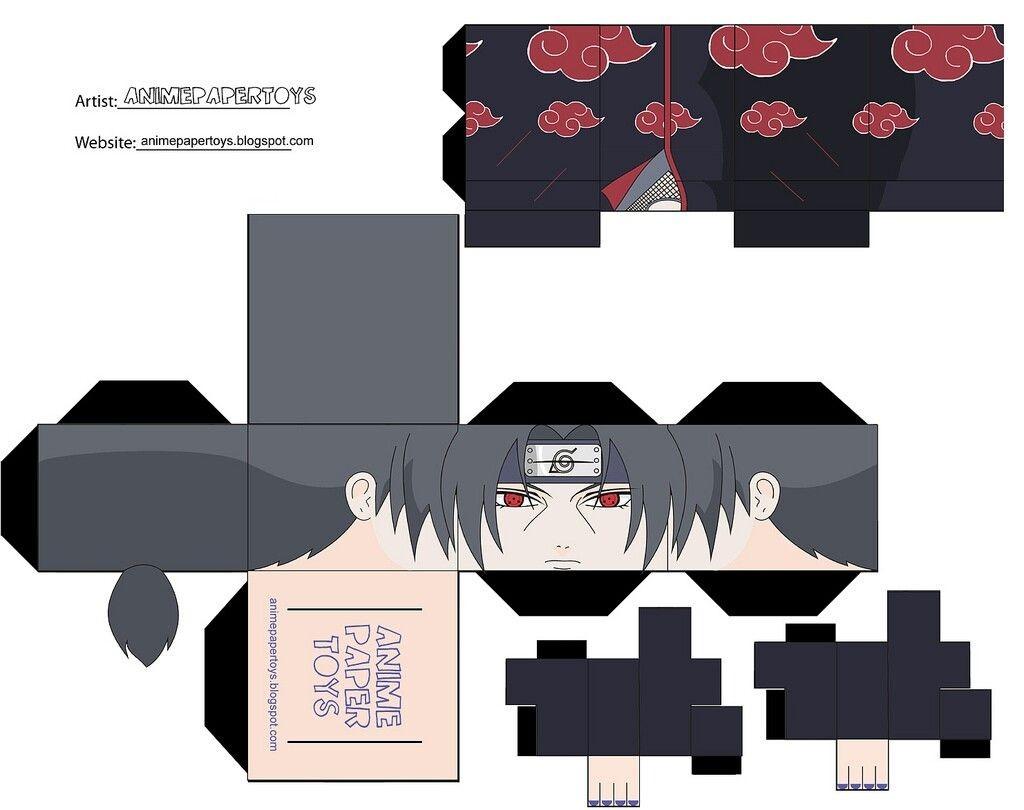 Papercraft Danbo Itachi Uchiha Оригами Pinterest
