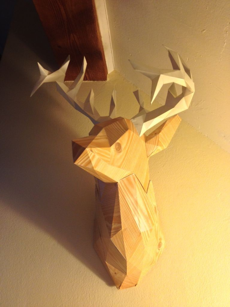 Papercraft Deer Create Faceted Papercraft Objects Pinterest