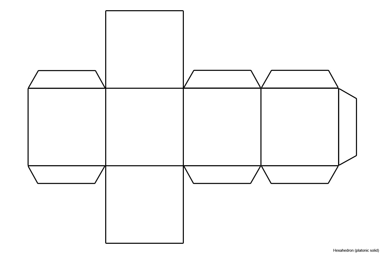 image regarding Printable Dice Template named Papercraft Cube 6 Sided Dice Template Tikiritschule Pegasus