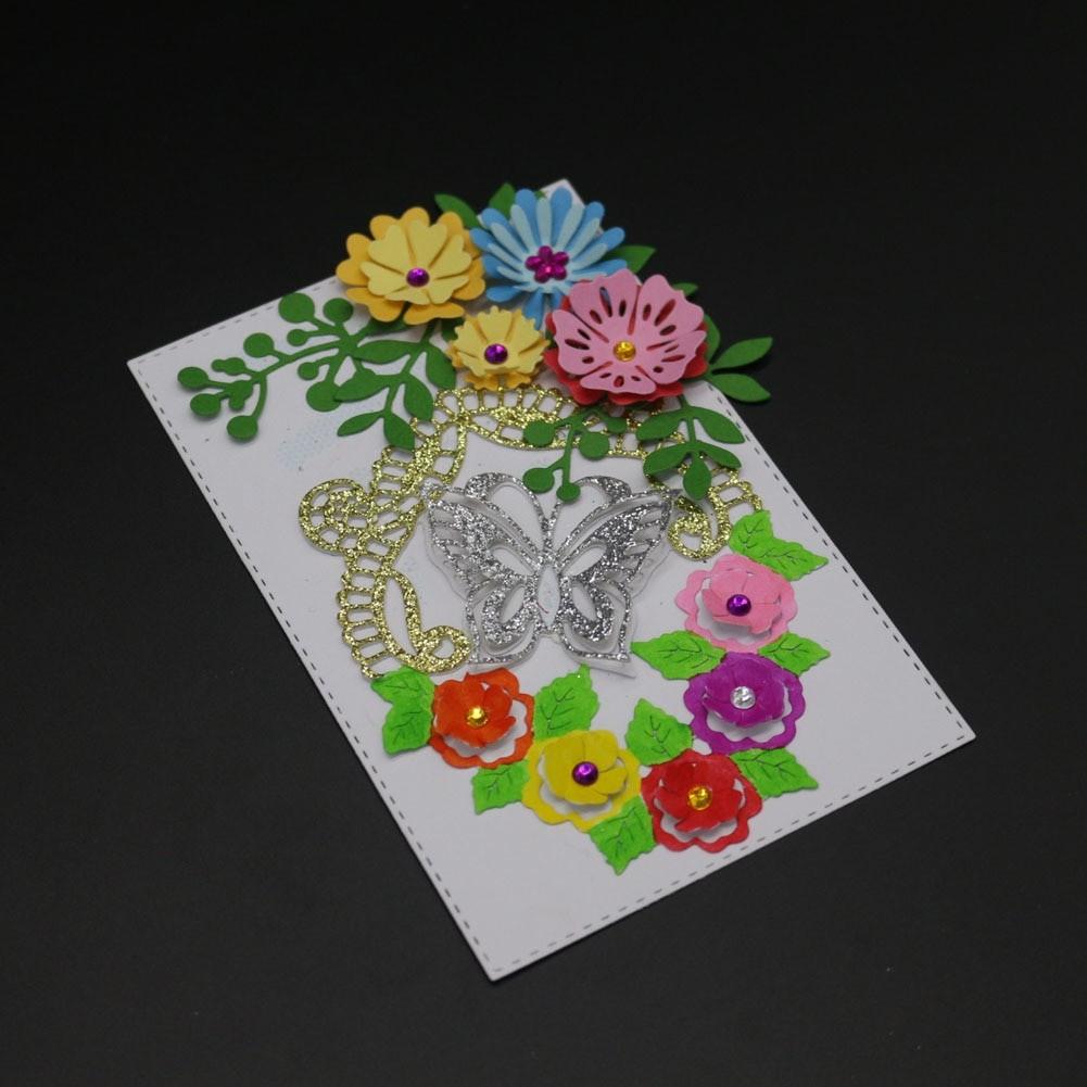 Papercraft Dies Metal Cutting Dies 3d Flower butterfly Leaves Scrapbooking Paper