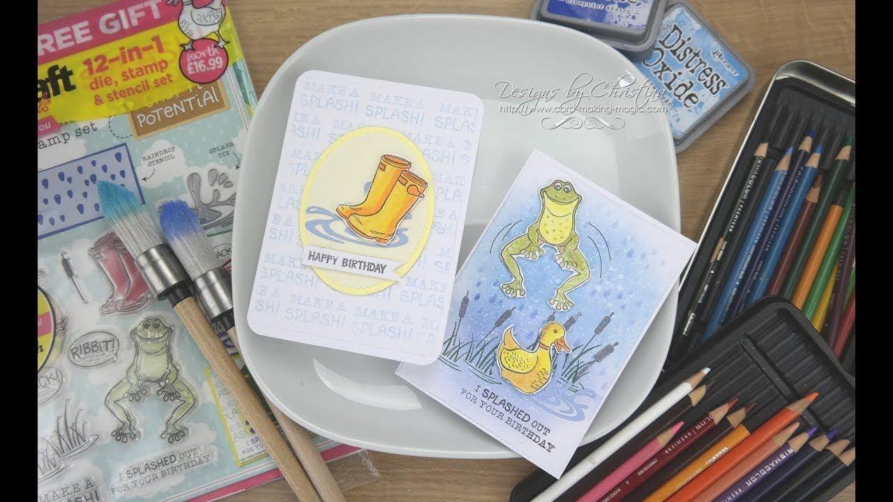 Papercraft Dies Papercraft Essentials 158 Make A Splash Crafts