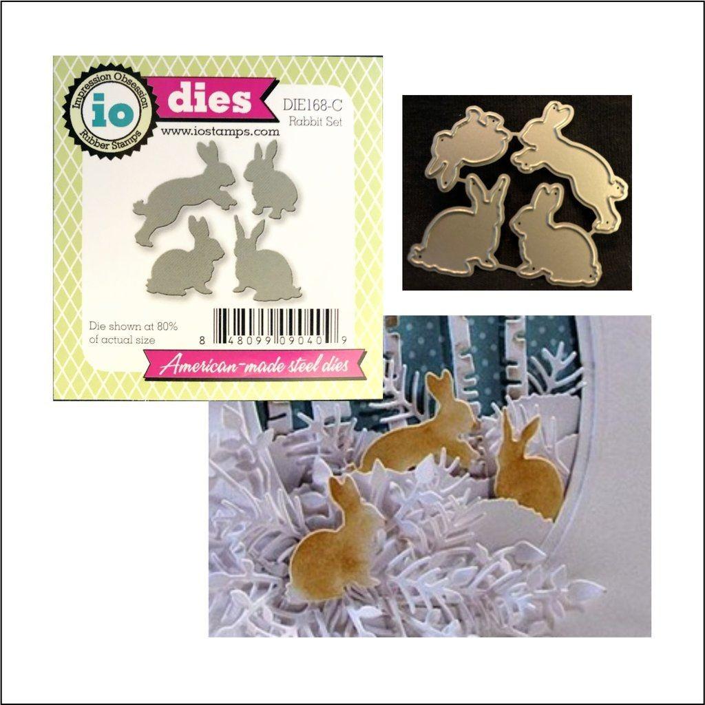 Papercraft Dies Rabbit Set Thin Metal Die Cut Set by Impression Obsession Dies