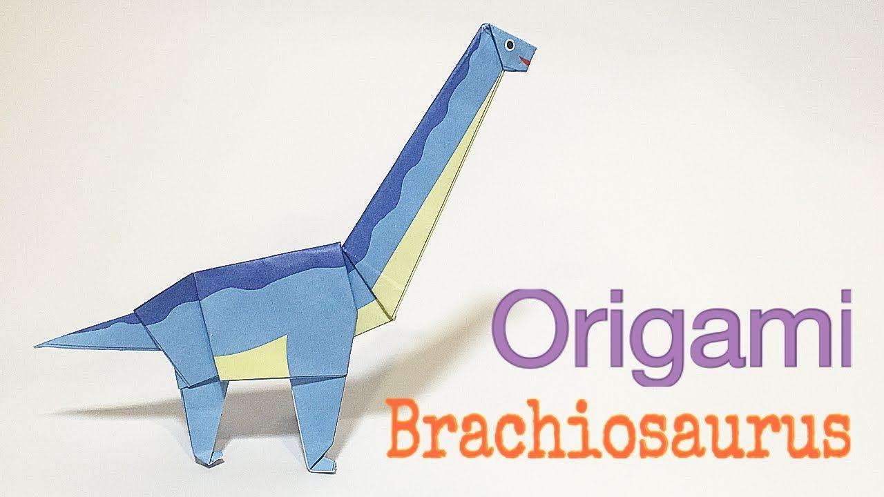 Papercraft Dinosaur Brachiosaurus Tutorial Easy Dinosaur origami