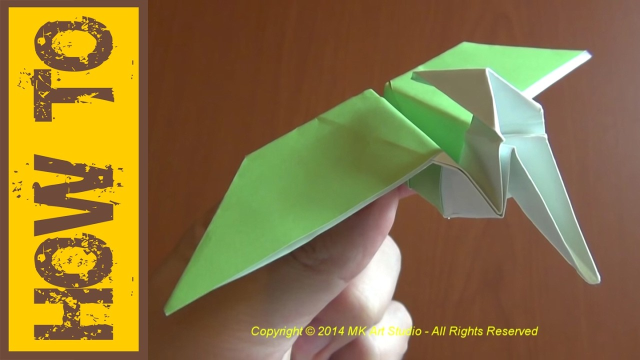 Papercraft Dinosaur How to Make A Paper Dinosaur origami Pterodactyl Pteranodon