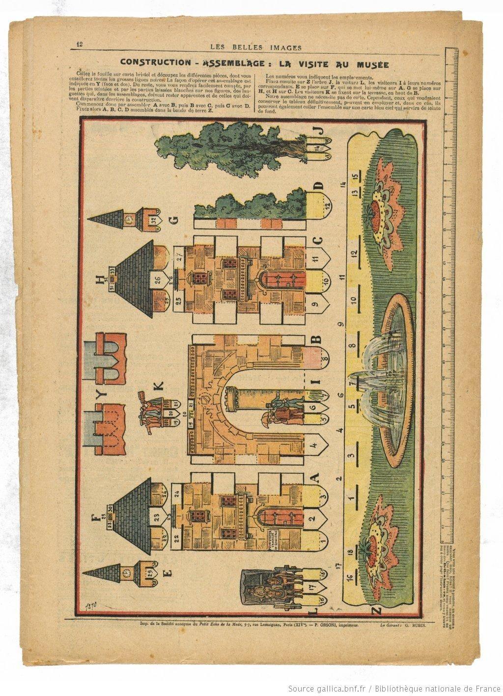 Papercraft Diorama Papertoy Les Belles Images Paris 1904