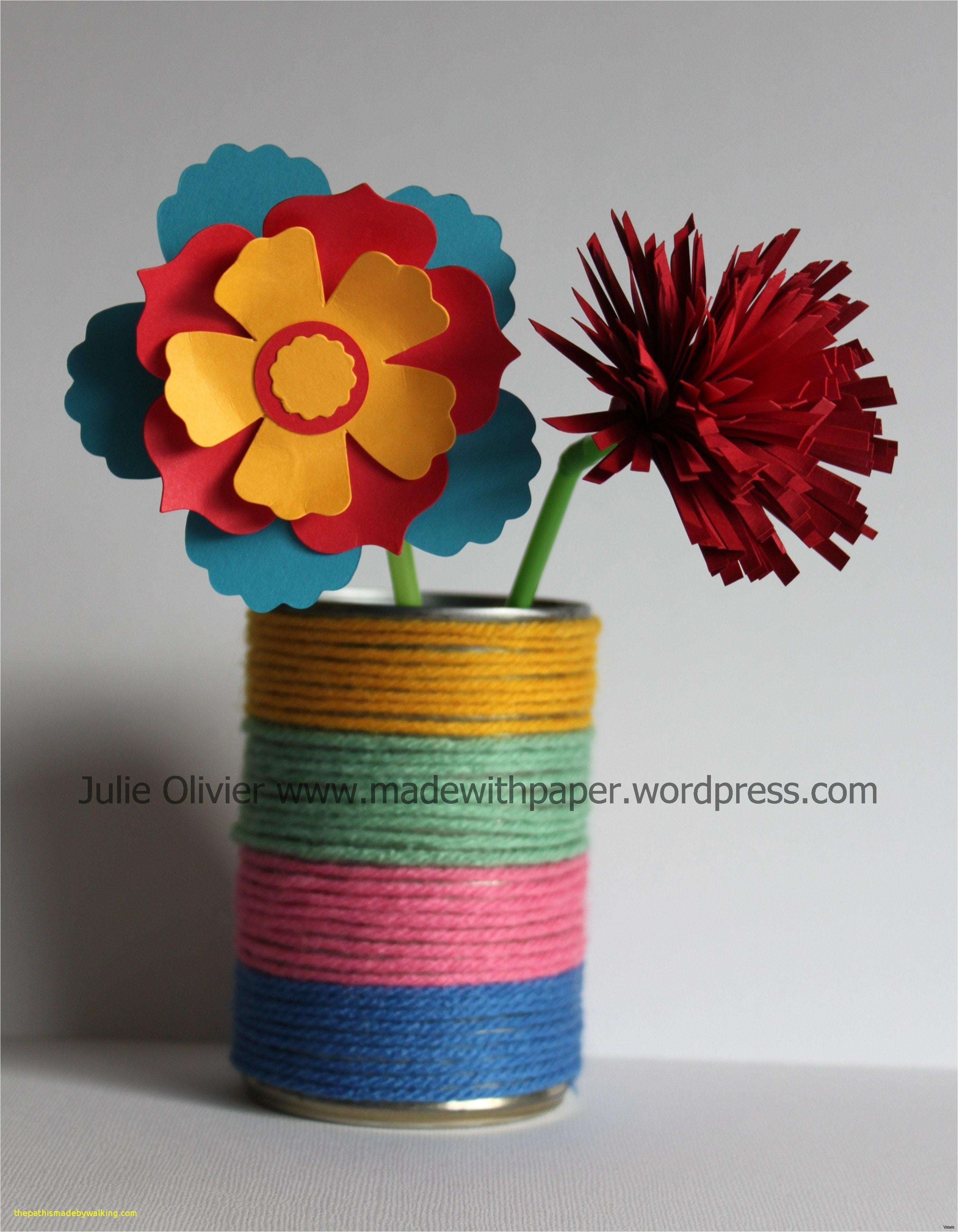Papercraft Diy Beautiful Papercraft Flower Vase thepathismadebywalking