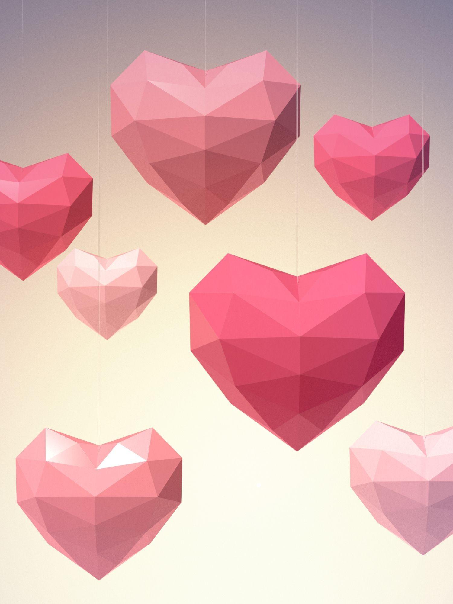 "Papercraft Diy Diy Kit ""heart 2l S Templates"" Of the Papercraft Collection"