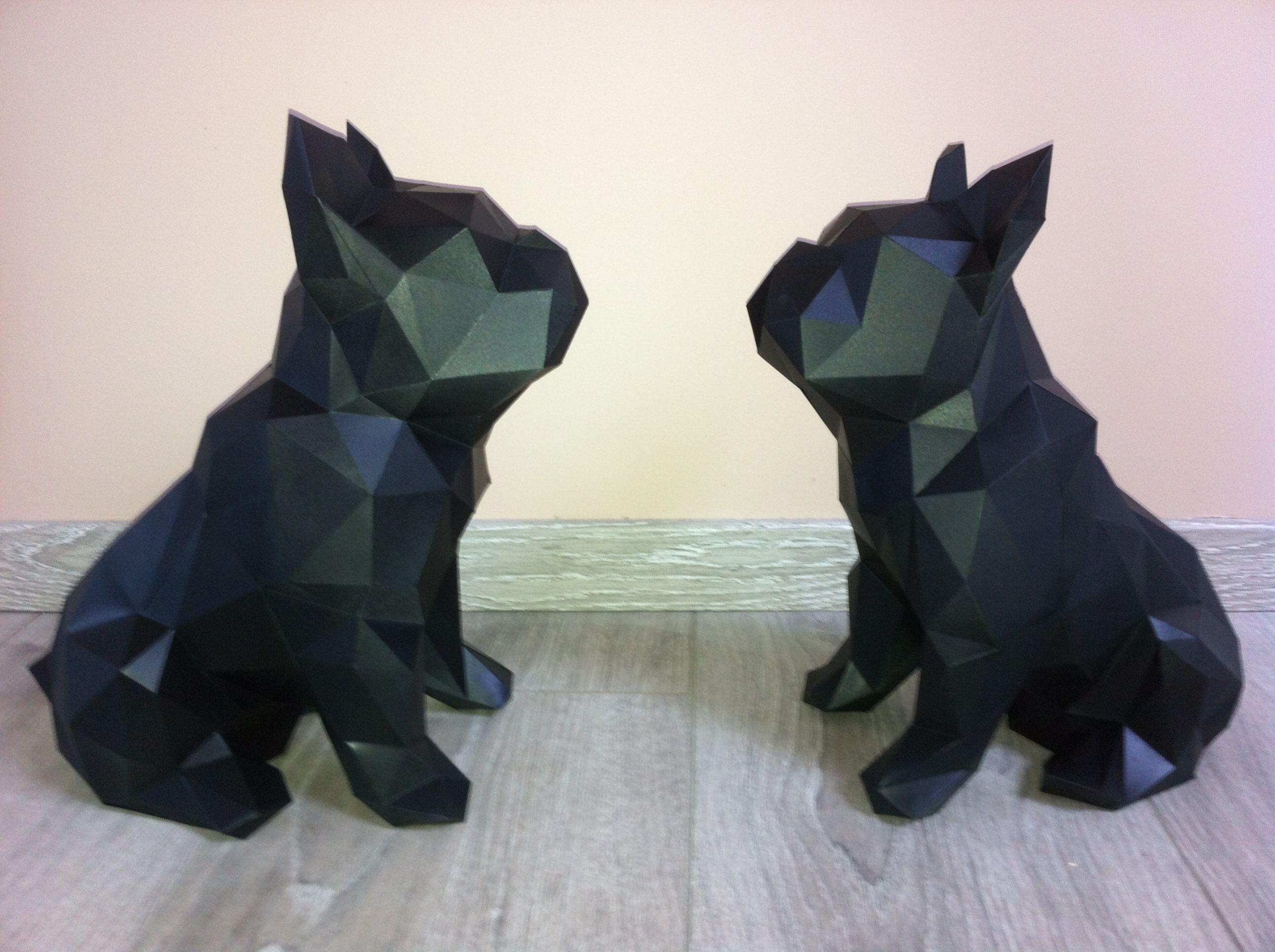 Papercraft Dog Dog origami Papercraft origami Animaux Trophee