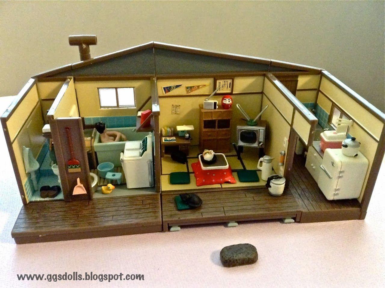 Papercraft Dollhouse Takara Miniature Retro Japanese Style House Easily to Build Plastic