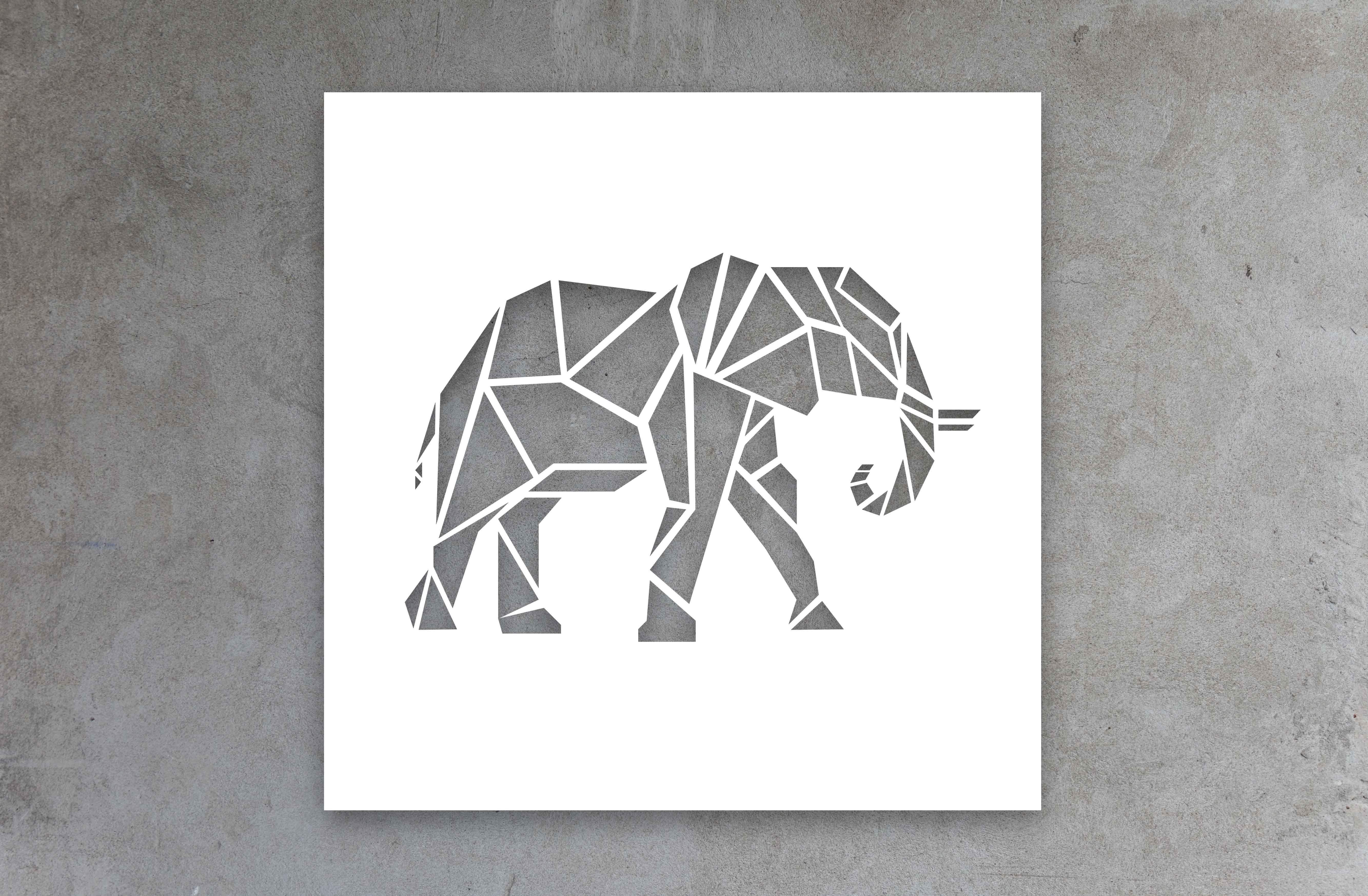Papercraft Elephant Canvas Cutout Elephant Africanbigfive