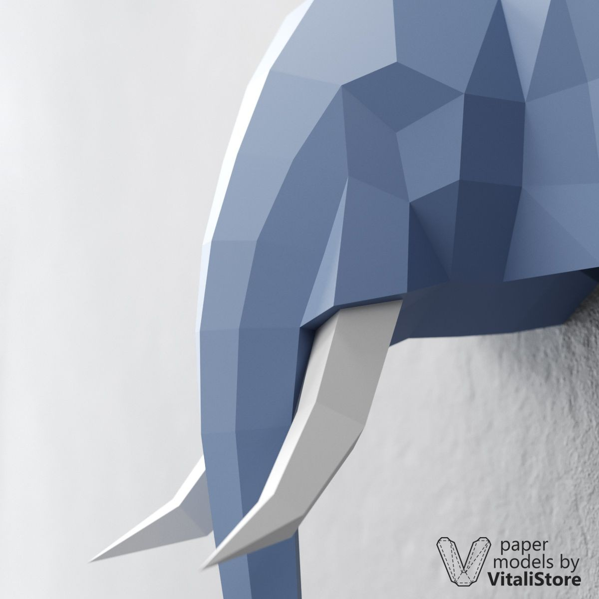 Papercraft Elephant Elephant Papercraft Diy Paper Sculpture Wall Decor